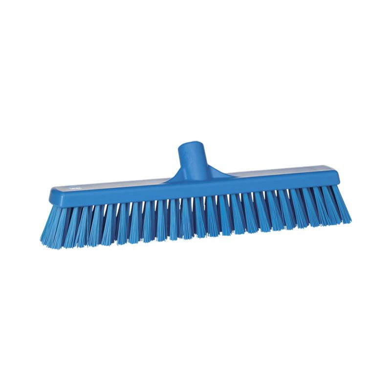 Vikan Floor Broom Soft Hard Bristle 410 Mm Sharp Attack
